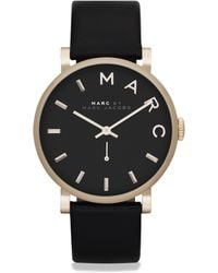 Marc By Marc Jacobs Baker Goldtone Stainless Steel & Leather Watch/Black - Lyst