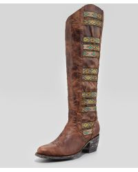 Old Gringo - Elina Ganado Embroidered Leather Boot Brass - Lyst