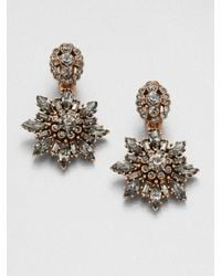 Oscar de la Renta Starburst Clip-on Drop Earrings - Lyst