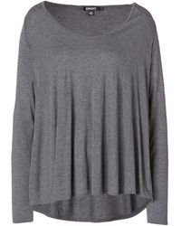 DKNY Jersey Top in Flannel - Lyst