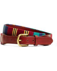 Brooks Brothers - Repp Stripe Needlepoint Belt - Lyst