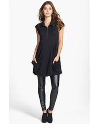 Kensie Zip Front Jersey Dress - Lyst
