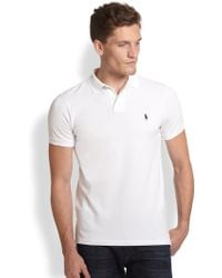 Polo Ralph Lauren Custom-Fit Cotton Mesh Polo - Lyst