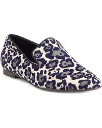 Stella McCartney Textured Velvet Leopard Print Smoking Slippers - Lyst