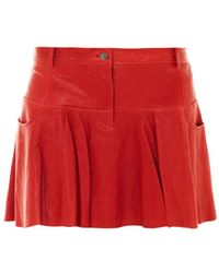 Thakoon Addition | Leather Tulip Skirt | Lyst