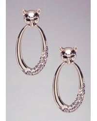 Bebe Jaguar Hoop Earrings - Lyst