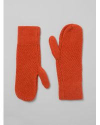Inverni - Knitted Wool Mittens - Lyst