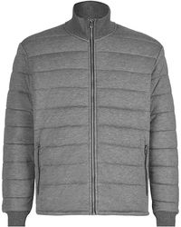 Zegna Sport - Soft Touch Grey Padded Jacket - Lyst