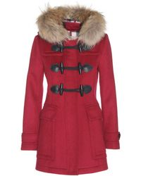 Burberry Brit - Wool Duffle Coat - Lyst