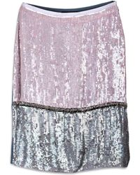 Cynthia Rowley Purple Pencil Skirt - Lyst