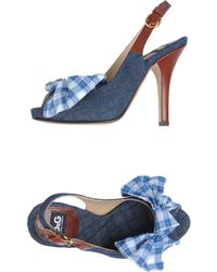 D&G Blue Sandals - Lyst