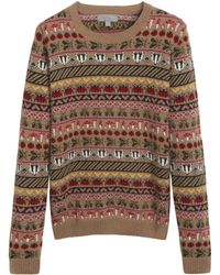 Mulberry Multicolor Fairisle Jumper - Lyst