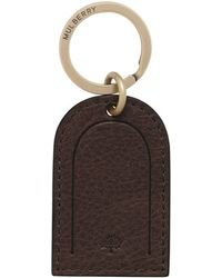 Mulberry Leather Tag Keyring - Lyst