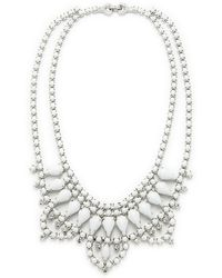 Tom Binns White And Crystal Scallop Necklace White And Crystal Scallop Necklace - Lyst
