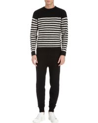AMI Striped Long Sleeve Sweater - Lyst