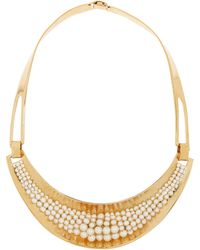 Aurelie Bidermann Cheyne Walk Goldplated Freshwater Pearl Necklace - Lyst