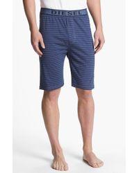 Diesel Martin Stripe Lounge Shorts - Lyst