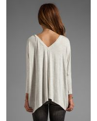 Dolan - 34 Sleeve Oversize Square Tee in Light Gray - Lyst