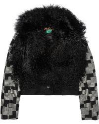 Duro Olowu - Shearling-Trimmed Wool Jacket - Lyst