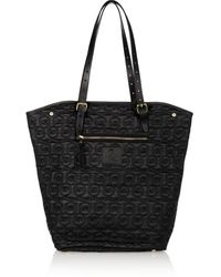 McQ by Alexander McQueen Tartan North South Quilted Shell and Leather Tote - Lyst