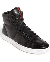 Prada Avenue High Top Sneaker - Lyst