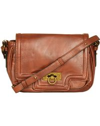 Topshop Faux Leather Crossbody Bag - Lyst
