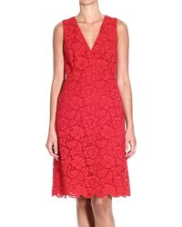 Valentino Dress Sleeveless Lace Crossed - Lyst