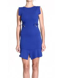 Versace Jeans Dress Sleeveless With String Milan Stitch - Lyst
