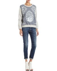 Betina - Baroque Embroidered Plaid Sweatshirt - Lyst