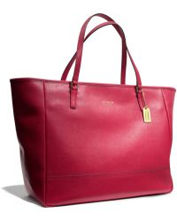 Coach Large City Tote in Saffiano Leather - Lyst