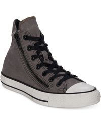 Converse Chuck Taylor All Star Double Zip Hi Casual Sneakers - Lyst