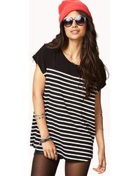 Forever 21 Coolgirl Striped Dolman Top - Lyst