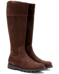 Gucci Suede Knee Boots - Lyst
