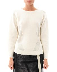 Helmut Lang Modern Borders Wool Sweater - Lyst