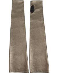 Jil Sander - Long Metallic Fingerless Gloves - Lyst