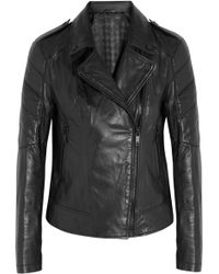 Karl Lagerfeld Bethina Leather Biker Jacket black - Lyst
