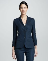 The Row Linenblend Schoolboy Blazer Prussian Blue - Lyst