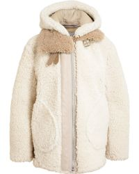 Acne Studios Shearling and Leather Oversized Jacket - Lyst