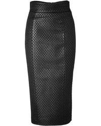L'Wren Scott High Waisted Pencil Skirt in Black black - Lyst