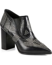 See By Chloé Studded Leather Ankle Boots - Lyst