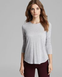 Vince Shirt Long Sleeve Tail Hem Crew - Lyst
