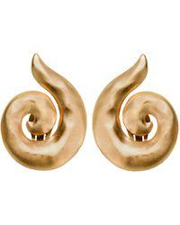Yves Saint Laurent Vintage Spiral Earrings - Lyst