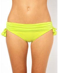 Seafolly Goddess Banded Tie Side Bikini Bottom - Lyst