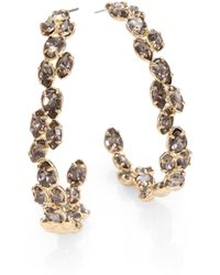Alexis Bittar Crystal Vine Hoop Earrings175 - Lyst