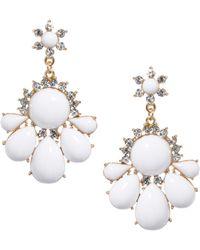 ASOS - Asos White Knight Earrings - Lyst
