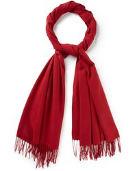 Cc Red Occasion Shawl - Lyst