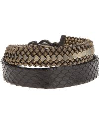 Laura B - Double Strap Bracelet - Lyst
