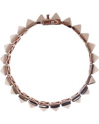 Eddie Borgo Small Rose Goldplated Pyramid Bracelet - Lyst