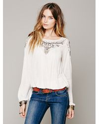 Free People Blue Sky Banded Top - Lyst