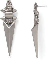 Sam Edelman - Pave Geometric Metal Cage Earrings - Lyst